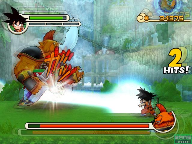 Goku ataca com seu Kamehame-ha!