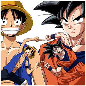 Goku e Luffy fazem fusão!