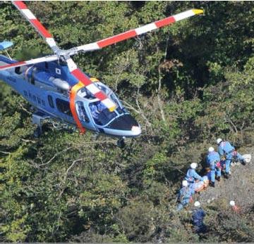 Helicóptero resgata corpo do desenhista em Arafune
