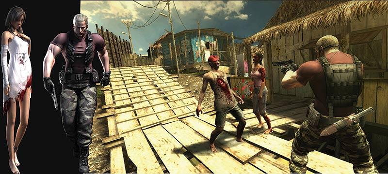 Krauser, Manuela e uma nova tela do game. Clique e amplie!