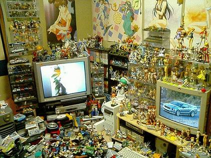 Olha um quarto de Otaku japonês!