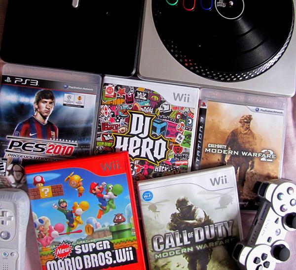 Foto dos games que estão na minha casa no feriado