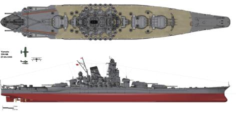 O cruzador espacial dos desenhos é uma réplica do navio de guerra Yamato