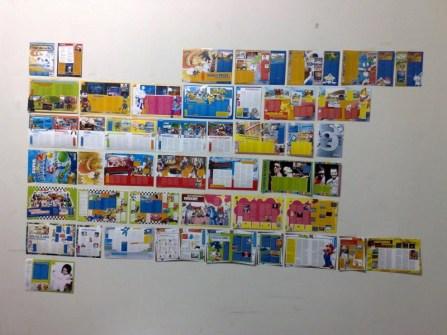 O hábito do diretor de arte de colar a revista inteira na parede pra ver se a diagramação tá ornando é tradicional